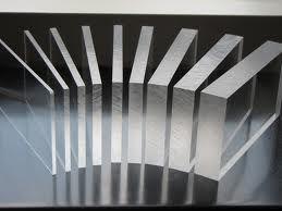 Perspex / Acrylaat plaat gegoten, glashelder transparant, 10 mm, per m2