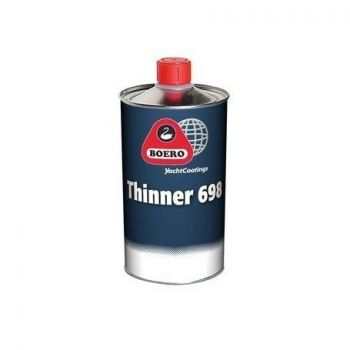Boero Thinner 698, voor polyurethaan verven, 0,5 liter
