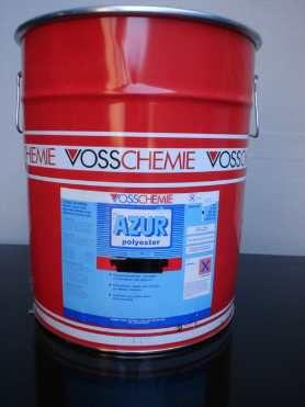 Polyesterhars Azur, vat 225 kg, zonder MEKP harder