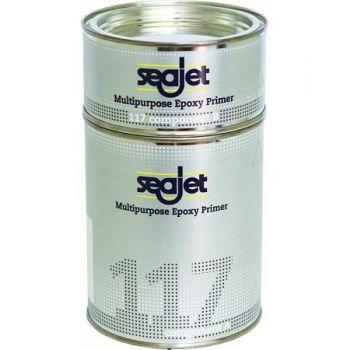 Seajet Grondverf Seajet 117 Multipurpose Epoxy, 1 liter, zilvergrijs