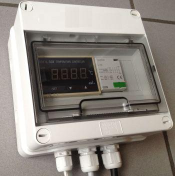 Thermostaatkast voor verwarmingselement, 3 x 400 volt, max. 25 A