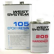 West Epoxyhars 105ᶪ� 205 Slow, set 1,2 kg